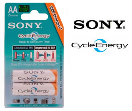 Pilas recargables sony cycle energy